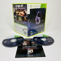 Resident Evil 6 (Microsoft Xbox 360, 2012) 2 Discs Complete TESTED WORKS
