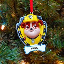 PERSONALIZED Paw Patrol Rubble Christmas Tree Ornament 2019 Holiday Gift