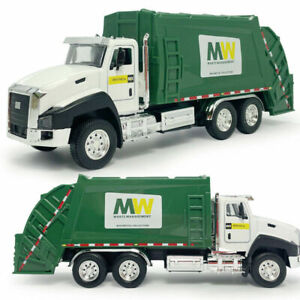 1:50 Garbage Dump Truck Model Car Pull Back Green Diecast Gift Toy Vehicle Boxed