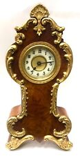 Lovely American Walnut Mantel Clock With Gilt / Brass Decoration Junghans