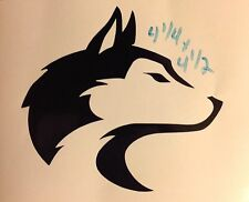 Husky Pet Dog Alaska Sled Wolf Canine Coyote Snow car truck window Sticker decal