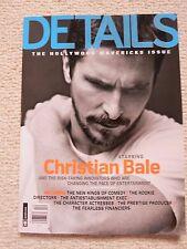 Details Magazine December 2013 / January 2014 Christian Bale Hollywood Mavericks