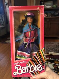 Vintage Barbie Peruvian 1985 Mattel #2995 Dolls of the World Collection NRFB