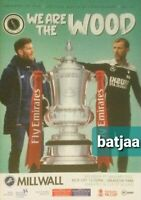 BOREHAM WOOD V MILLWALL-Scored 0:2 FA CUP 2020/21 PROGRAMME 09/01/2021 BUY NOW