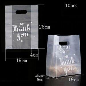 10 Pcs Fashion Plastic Thank You Bags birthday party favour