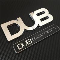 CHROME BLACK DUB EDITION BADGE VW GOLF POLO FOX GTI PASSAT BORA TDI T4 T5 Car Va