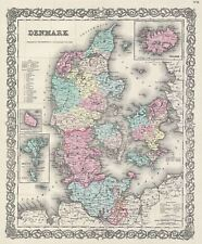 1856 Colton Map of Denmark