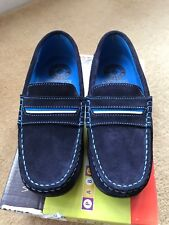 NEW Pablosky Navy Blue Deck Shoes Loafers Size UK 13 Euro 32