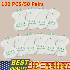 100PCS Snap On Replacement Pads For Electrode Tens Unit & Pulse Massager USA