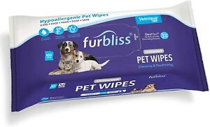 Furbliss Hygienic Pet Wipes for Dogs & Cats, Cleansing Grooming & Deodorizing