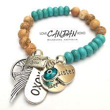 EviI Eye I Love You Sister Tree Of Life Angel Wing Xoxo Bracelet Gift