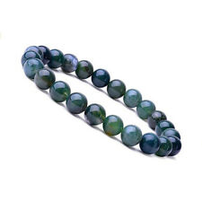 Natural 6mm Aquatic Agate Gemstones Healing Crystal Stretch Beaded Bracelet