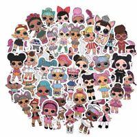 50Pcs Lol Stickers Personality Lol Doll Stickers Children's Pvc Graffiti Sticker