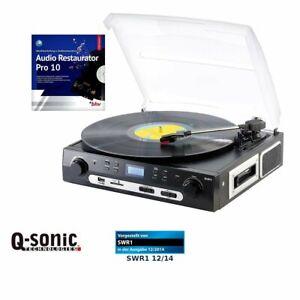 Q-Sonic UPL-855.MP3 Plattenspieler Digitalisierer Schallplatten MC in Mp3 umwand