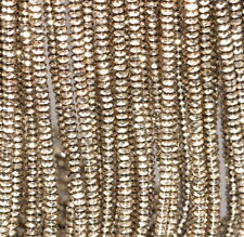 """4X2MM PYRITE HEMATITE GEMSTONE FACETED RONDELLE LOOSE BEADS 15.5"""""""