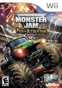 Monster Jam: Path of Destruction - Nintendo  Wii Game