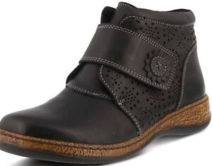 SPRING STEP Souzala Brown Leather Boots H&L
