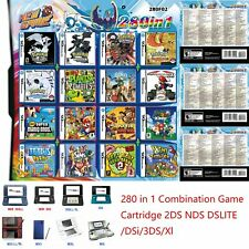 Game Cartridge 280 in 1 Combination Remplacement Pour 2DS NDS DSLITE /DSi/3DS/Xl
