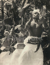 1930's CEYLON Sri Lanka Semi Nude Male Dancers Music Photograph Art LIONEL WENDT