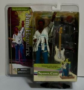 Jimi Hendrix McFarlane Spawn Woodstock Super Stage Figure 2003 NEW