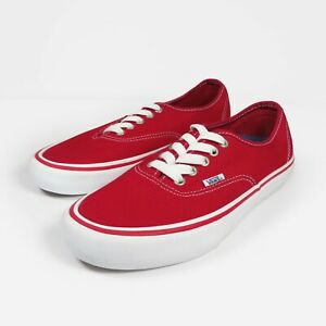 Vans Authentic Pro Ultracush Trainers Skate Shoes Era Red UK 7 US 8 EUR 40.5 New
