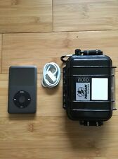 Apple iPod Classic 7th Black (160 GB) With Pelican Case Bundle, Excellent!