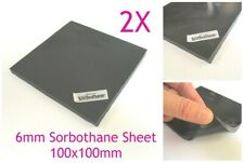 2X Sorbothane 6mm Anti Vibration Isolation Pad Sheet 100 100mm 1/4inch for audio