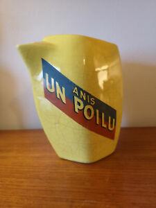 Pichet publicitaire Anis Un Poilu 14/18 céramique distillerie Hubert à Périgueux