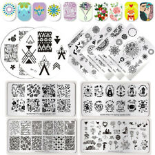 BORN PRETTY Nail Art Stamping Plates Kiss Love Flower Image Stamp Templates DIY