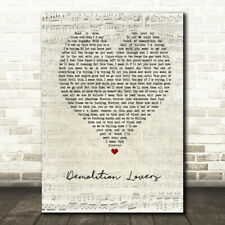 Demolition Lovers Script Heart Song Lyric Print