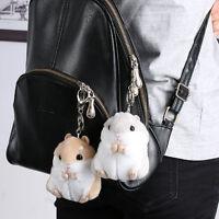 2017 Trinket Mini Hamster KeyChains Women Fluffy Toy Doll Car Key Ring Keychain