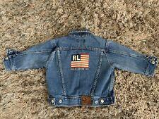 New listing Vtg Polo Ralph Lauren Big American Usa Flag Jean Denim Jacket Rl Baby 12-24 Mos