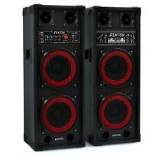 PA Lautsprecher Aktiv Set DJ Boxen Passiv HiFi Studio Box USB SD MP3 2 Wege 800W