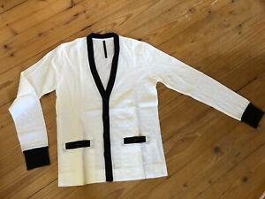 Galaabend Tokyo Cardigan Pullover S 46 schwarz weiß Made in Japan