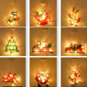 LED Christmas String Fairy Party Decoration Hanging Light Props W/suction Cup
