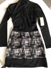 Nicole Miller long sleeve high neck sheath dress