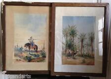 Paire Aquarelles Orientaliste signé E ou F GUERARD ? à identifier