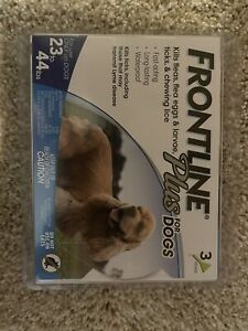 NEW Frontline Plus For Small Dogs 23 to 44 lbs 3-Dose, Flea & Tick Treatment