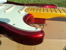 STRATOCASTER     GUITAR   CANDY  APPLE  RED    ALDER -  MAPLE  NECK , ALNICO 5