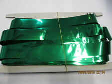 Green Slash (Foil) 12ft Drop Shimmer Curtains for Theatre / Stage / Party / Xmas