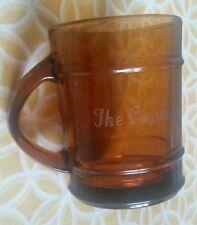 Old Vintage Fire King Ranger Barrel Brown Amber Cup Mug Anchor Hocking Captain