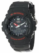 Casio G-Shock Mens Black Combi Resin Strap Watch G-100-1BVMUR Brand NEW