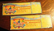 Walt Disney World Ticket Stubs - Vintage 1987 15th Birthday Celebration Florida
