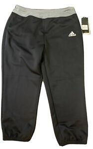 NWT Women's Black ADIDAS Size M Medium CLIMALITE Fastpitch Softball Pants  NEW