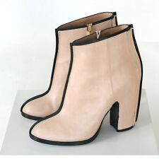 MAISON MARTIN MARGIELA nude leather 2D seam boots high heel booties 40 / 10 NEW