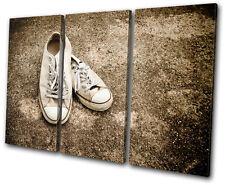 Vintage Lo Top Sneakers TREBLE DOEK WALL ART foto afdrukken