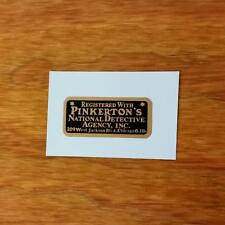 BICYCLE DECAL PINKERTONS  NATIONAL DETECTIVE AGENCY