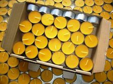 50 beeswax tea light candles in cases, 100% pure nature candles 19mm /4h