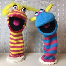 2 x The Puppet Company Sockette Hand Puppets Lipstick, Scorch -  Squeaky Tongues