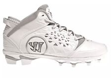Mens WARRIOR Adonis White & Silver Lacrosse Cleats Size 14 Shoes